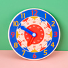 Children Montessori Wooden Clock Toys Hour Minute Second Cognition Colorful Clocks Toys for Kids Early Preschool Teaching Aids discount