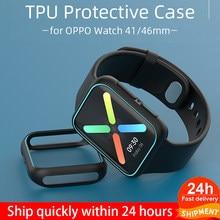 Tpu macio caso protetor para oppo assista 41/46mm capa pára leve protetor escudo para oppo relógio 41mm 46mm acessórios