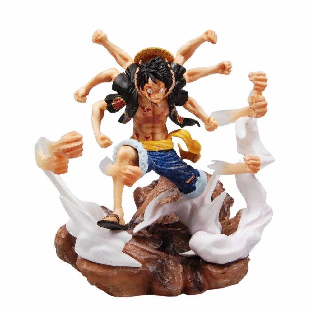 31cm Anime une pièce Luffy Gomu Gomu pas Gatling PVC figurine jouets modèle Collection PVC jouets poupée A28 # non