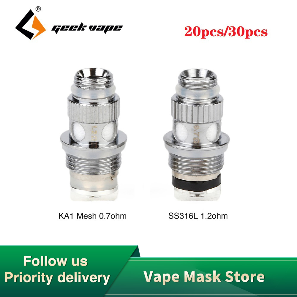 Hot Original 20/30pcs Geekvape NS Coil Set 0.7ohm/1.2ohm Replacement Coils For Geekvape Frenzy Pod Kit 1.2ohm Also For Flint Kit