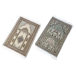Image 3 - Islamic Prayer Rug Home Living Room Thick With Tassel Floor Soft Worship Mats Decoration Muslim Prayer Blanket Ethnic Carpet