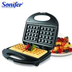 750W elektryczny gofry ekspres żelaza toster maszyna ciasto bąbelkowe piekarnik śniadanie maszyna do gofrów 220V Sonifer w Waflownice od AGD na
