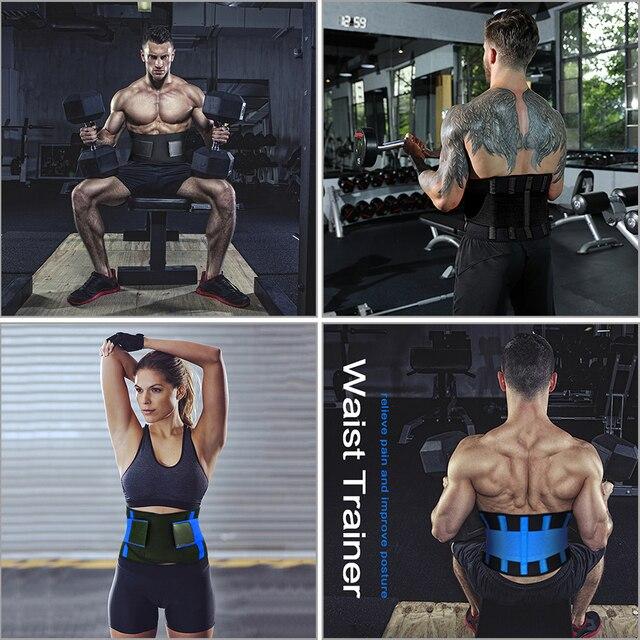 Adjustable Waist Back Support Waist Trainer Trimmer Belt Sweat Utility Band for Sport Gym Fitness Weightlifting Tummy Slim Belts 4