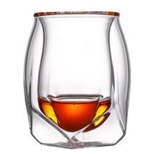 Комплект из 2 предметов с двойными стенками, бокал для вина, прочная термостойкая чашка для вина, костюм для домашнего офиса, бара PI669