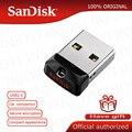 SanDisk Super Mini USB флэш-накопитель, 64 ГБ USB 2,0 Cruzer Fit CZ33 Pen Drive 32 Гб карта памяти 16 ГБ 8 ГБ 4 ГБ Pendrive