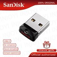 Originale SanDisk Super Mini USB Flash Drive 64GB USB 2.0 Cruzer Fit CZ33 Pen Drive 32GB di Memoria del Bastone 16GB 8GB 4GB Pendrive