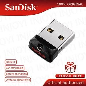 Original SanDisk Super Mini USB Flash Drive 64GB USB 2.0 Cruzer Fit CZ33 Pen Drive 32GB Memory Stick 16GB 8GB 4GB Pendrive
