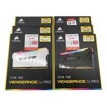 CORSAIR RGB PRO 16 go (8gbx2 pièces) 64 go (16gbx4 pièces) dans une boîte, double canal DDR4 RGB PRO, 3200 MHZ, mémoire de carte mère