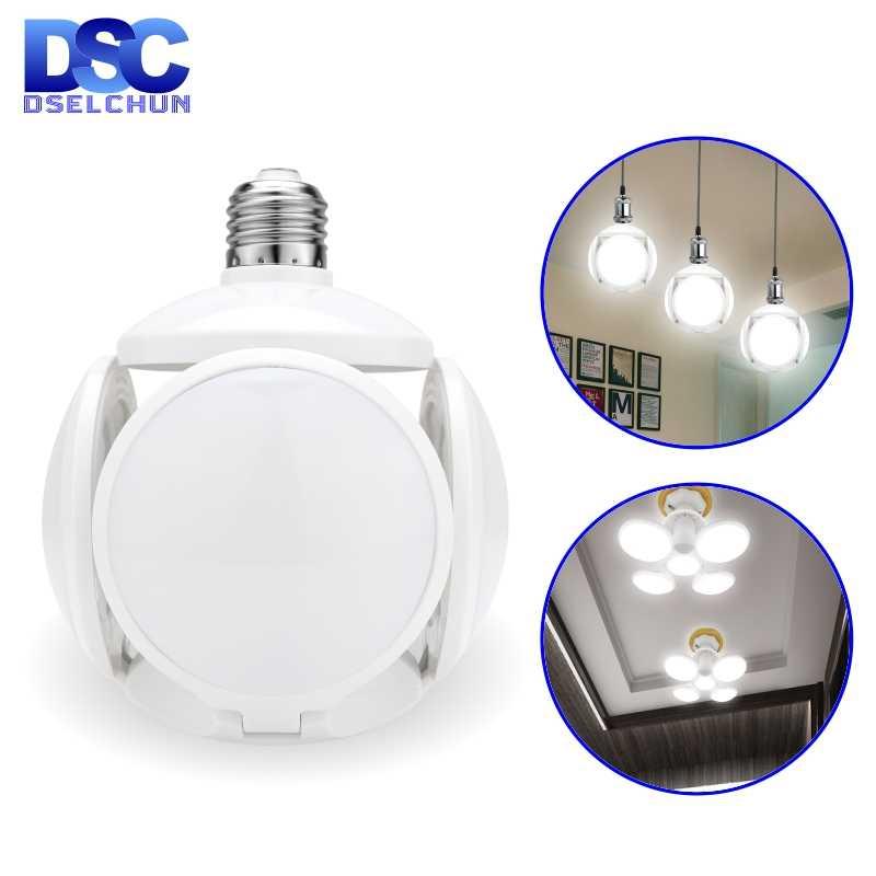 Bombilla LED E27 40W fútbol UFO lámpara 360 grados bombilla plegable AC 85-265V 110V 220V bombillas LED foco luz fría/cálida blanca