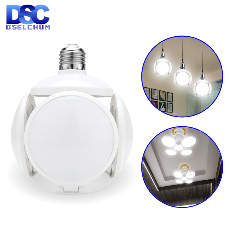 LED Bulb E27 40W Football UFO Lamp 360 Degrees Folding Bulb AC 85-265V 110V 220V Lampada LED Spotlight Light Cold/Warm White