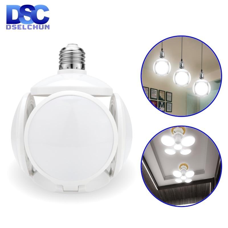 LED Bulb E27 40W Football UFO Lamp 360 Degrees Folding Bulb AC 85-265V 110V 220V Lampada LED Spotlight Light Cold/Warm White