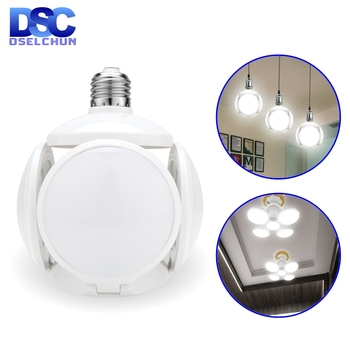цена на LED Bulb E27 40W Football UFO Lamp 360 degrees Folding Bulb AC 85-265V 110V 220V Lampada LED Spotlight Light Cold/Warm White
