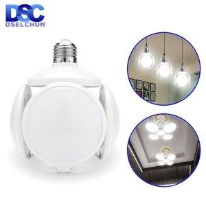 LED Bulb E27 40W Football UFO Lamp 360 degrees Folding Bulb AC 85-265V 110V 220V Lampada LED Spotlight Light Cold/Warm White(China)