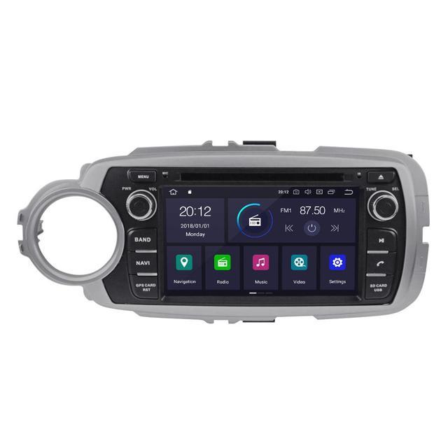 AOTSR-lecteur DVD de voiture px5 | Android 9.0, 4 + 32 go, pour Toyota Yaris 2012-2015, Radio, GPS, Navigation, lien miroir, unité de tête px5, media video