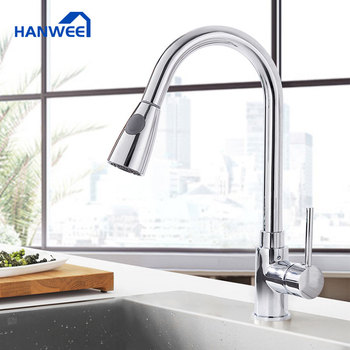 Hanwee Kitchen Faucets Pull Out Kitchen Tap Silver Single Handle Single Hole Handle Swivel 360 Degree Water Mixer Tap Mixer Tap kitchen faucets silver single handle pull out kitchen sink tap single hole handle swivel 360 degree rotation water mixer tap