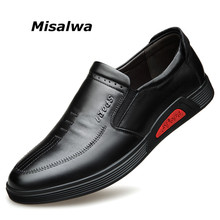 Men Loafers Shoe Misalwa Moccasins Spring Slip-On Genuine-Leather Salesman Daily-Work