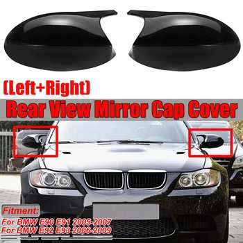 M3 Style E90 Mirror Cover Car Side Mirror Cover Cap For BMW E90 E91 2005-2007 E92 E93 2006-2009 E80 E81 E87 Direct Replacement image