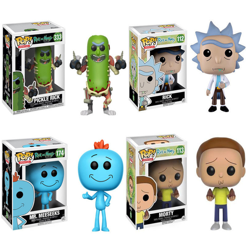 Funko Pop Pickle Rick And Morty Mr.meeseeks Pickle Rick Toys Action Figurine Toys For Kids Birthday Christmas Gifts