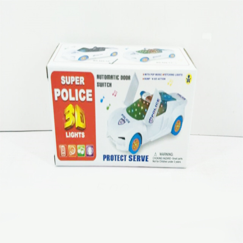 New Products CHILDREN'S Electric Toys Police Car Universal Wheel Door Opening Police Car Boy Shining Sounding Toys Stall Hot Sel