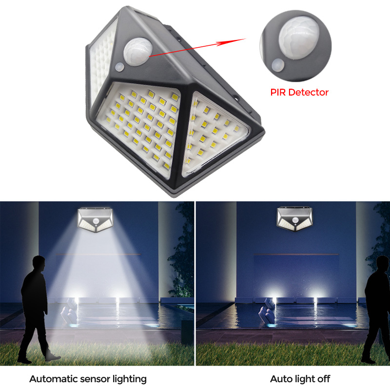 100 LED Solar Light Outdoor Solar Lamp PIR Motion Sensor Wall Light Waterproof Solar Sunlight Powered Garden street light (8)