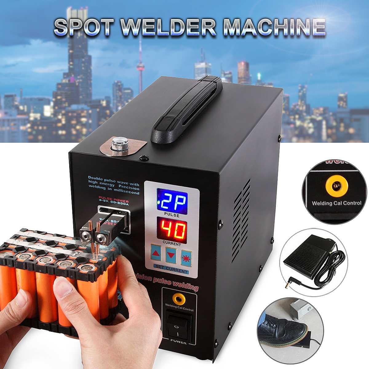 S737G Machine de soudage par points de batterie Double affichage numérique lumière LED Machine de soudage par points réglable batterie