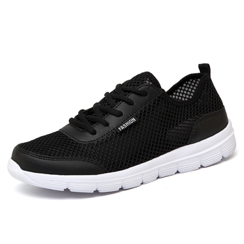 Men Shoes Summer Mesh Casual Men's Shoes Lightweight Breathable Sports Flat Shoes for Men Fashion Lovers Sneakers Plus Size