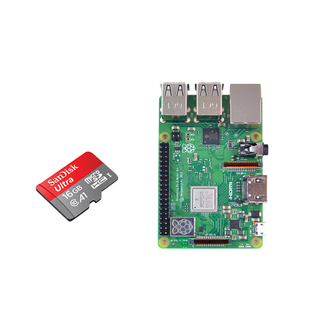 Development Board With 16G Memory Card For Raspberry Pi 4 (1G Running Memory)(2G Running Memory) For Kids Early Educational Toys