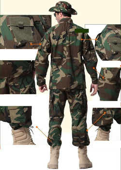 Men Military Uniform Airsoft Camouflage Tactical Suit Camping Army Special Forces Combat Jcckets Pants Militar Soldier Clothes 3