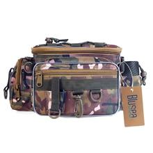 Blusea Tragbare Angeln Tasche Outdoor Einzigen Schulter Angeln Taille Pack Tasche Angeln Locken Reel Tackle Pesca Lagerung Tasche Wasserdicht