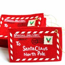 купить To Santa Claus North Pole Christmas Envelope Pendant Tree Accessories Christmas Small Gift Candy Bags Home Party Xmas Decor по цене 16.28 рублей