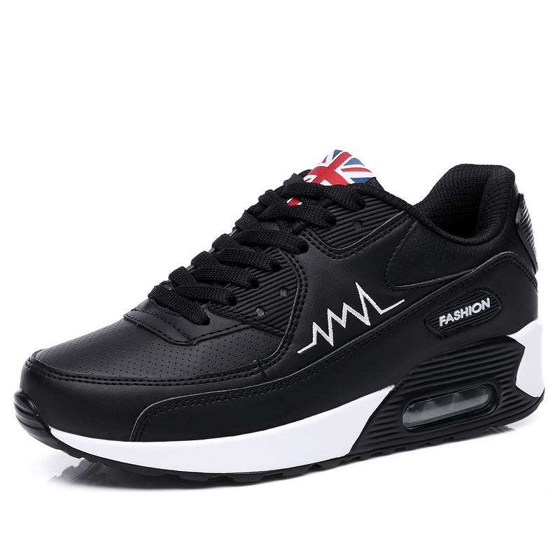 Shoes Women Running Shoes Sports Shoes Female MAX Air Cushion Shoes Black White Shoes Comfortable Casual Shoes Outdoor Sneakers