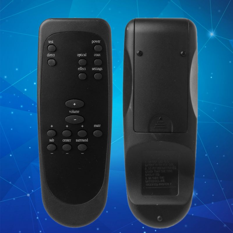 Black Plastic Remote Control Controller Replacement for <font><b>Logitech</b></font> Z5500 <font><b>Z</b></font>-<font><b>5500</b></font> Z5450 <font><b>Z</b></font>-5450 Z680 <font><b>Z</b></font>-680 Computer System Speaker Ac image