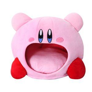 Image 1 - Cartoon Kirby Gefüllte Plüsch Tier Hut Plüsch Puppe Kopfbedeckungen Kissen Nickerchen Baby Geburtstag Spielzeug