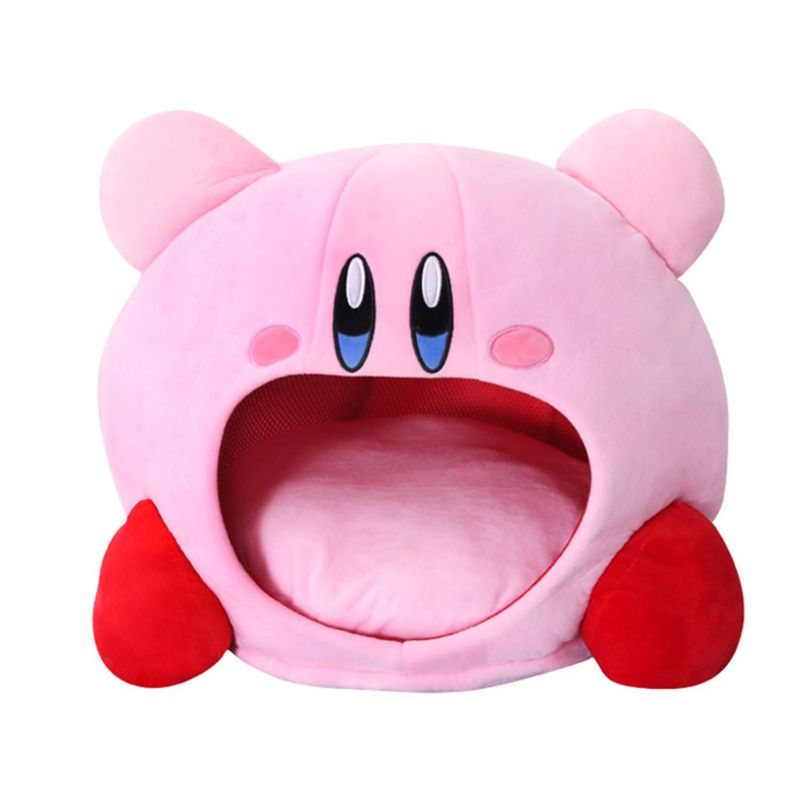 Cartoon Kirby Stuffed Plush Animal Hat Plush Doll Headgear Pillow Nap Baby Birthday Toys
