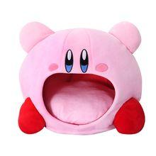 Cartoon Kirby Stuffed Plush Animal Hat Plush Doll Headgear Pillow Nap Baby Birthday Toys