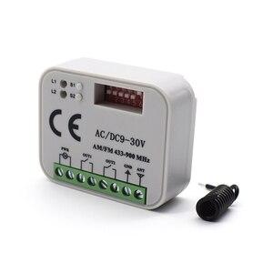 Image 3 - Uzaktan kumanda anahtarı alıcısı 433MHz 868MHz 300 315 318 390 MHz alıcı AC/DC 9 30V 300 900MHz garaj kapısı alıcısı