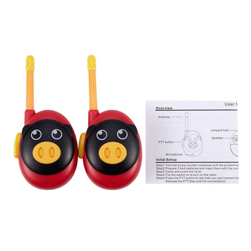 Um par walkie-talkie pai-filho chamada sem fio