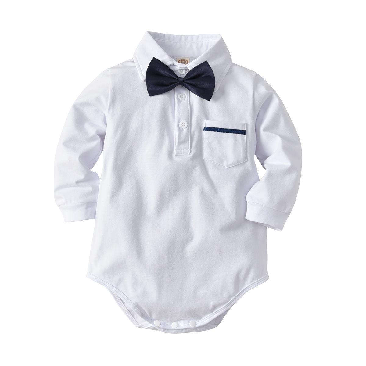 White Bodysuit Baby Suit Boy Clothes Modern Design Creative Baby Suit Combo Neonata Abbigliamento Clothes Baby Set BD50YE