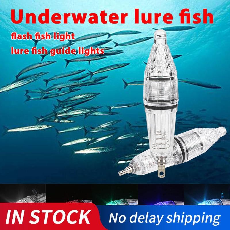 Deep DROP ตกปลาหลายสีใต้น้ำแหล่งดึงดูดปลาเหยื่อตกปลาเหยื่อแสงแฟลช Dropshipping