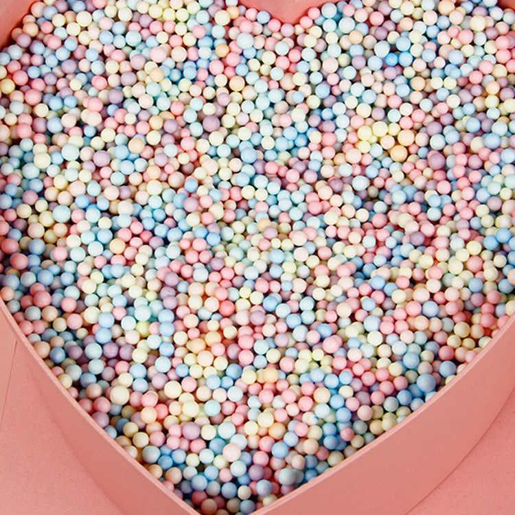 10 גרם\שקית צבעוני קצף כדורי אריזת מתנה מילוי חתונה פרח מילוי קופסא ממתקי תיבת אריזת מתנת יום הולדת ספקי קישוטים