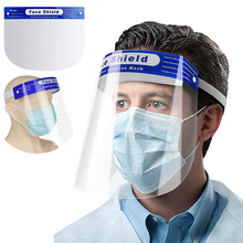 1/2/5PCS Protective Face Shield Splash-Proof Full Safety Mask Windproof  Visor Dustproof Goggle for Outdoor