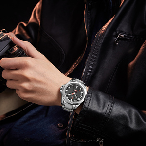 Image 5 - Часы наручные NAVIFORCE Мужские кварцевые, люксовые брендовые аналоговые водонепроницаемые из нержавеющей стали, с датой