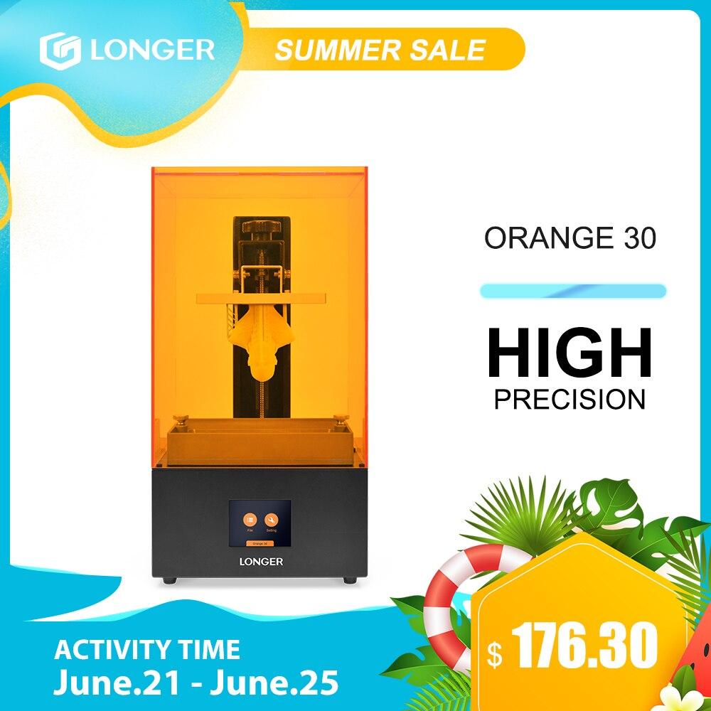 LONGER Orange 30 3D принтер высокой точности SLA 3D принтер с 2K ЖК-экраном параллельный УФ светодиодный принтер 405nm UV смола 3д принтер 3d печать 3 d принте...