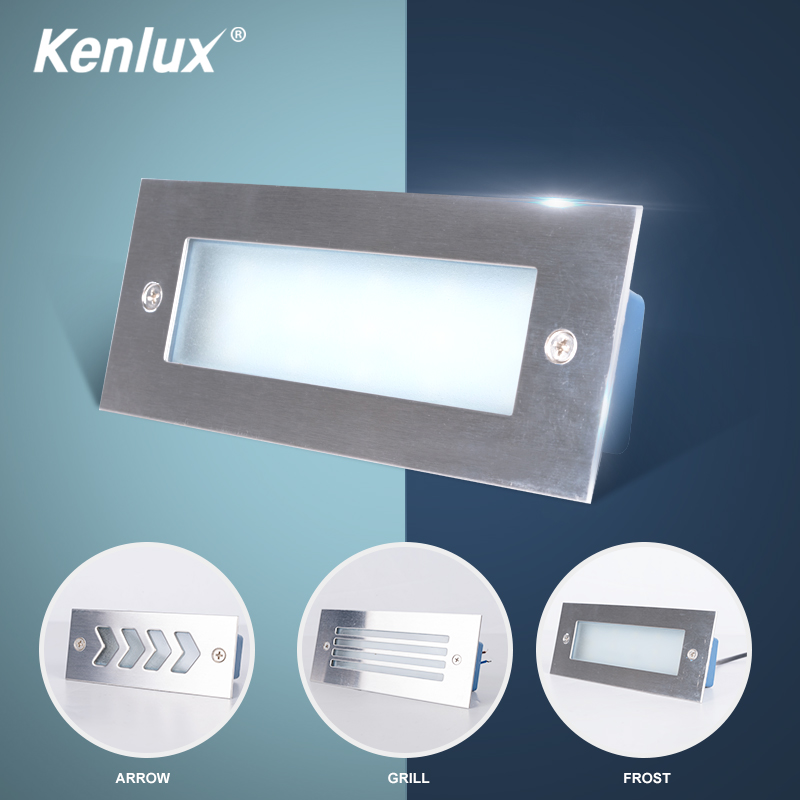 Kenlux Led Stair Light Recessed Lights 3W 110mm / 4W 170mm AC85-265V Aluminum Outdoor & Indoor Waterproof High Quality Wall Lamp