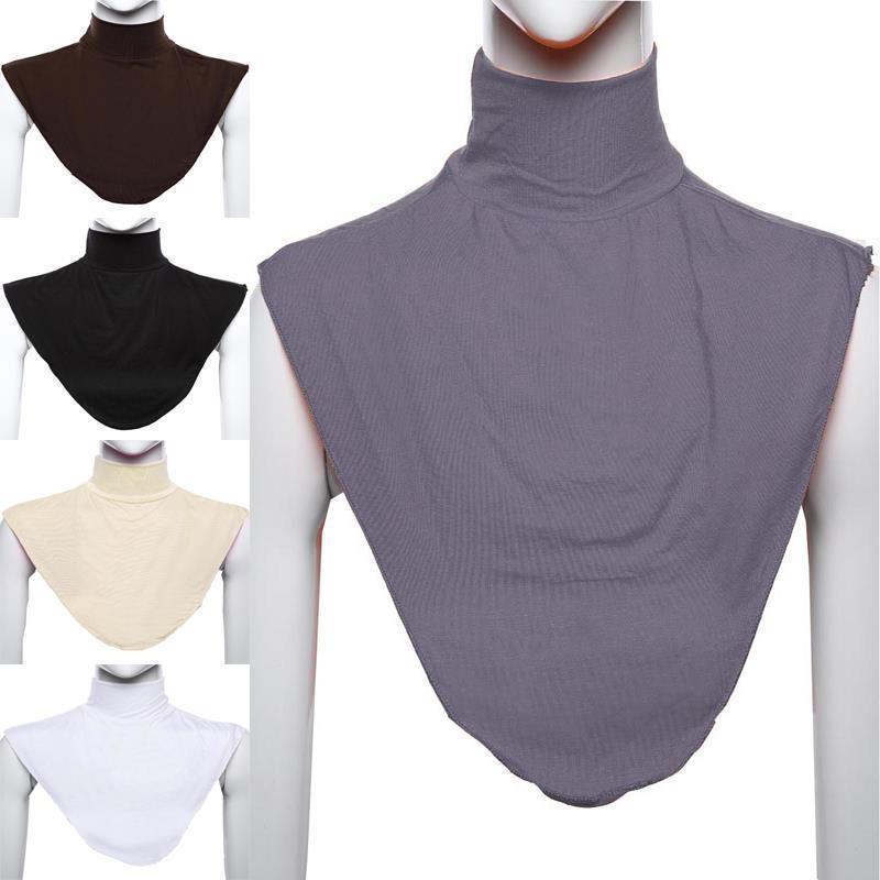 Islamic Women Hijab Extensions Neck Check Back Cover Islamic Shirt Under Top Abaya Hijab Femme Musulman Scarf