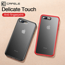 CAFELE 2019 newest color clashing case for iphone 7 8 plus silicon+PC translucent