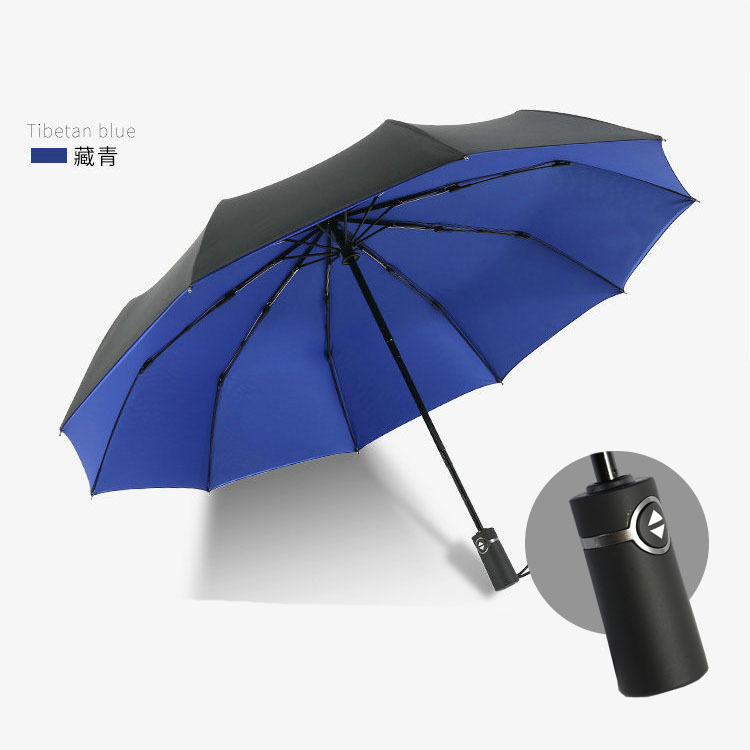 Fully automatic double sun protection umbrella upf50 folding umbrella dual use men and women anti UV sun umbrella black plastic in Umbrellas from Home Garden