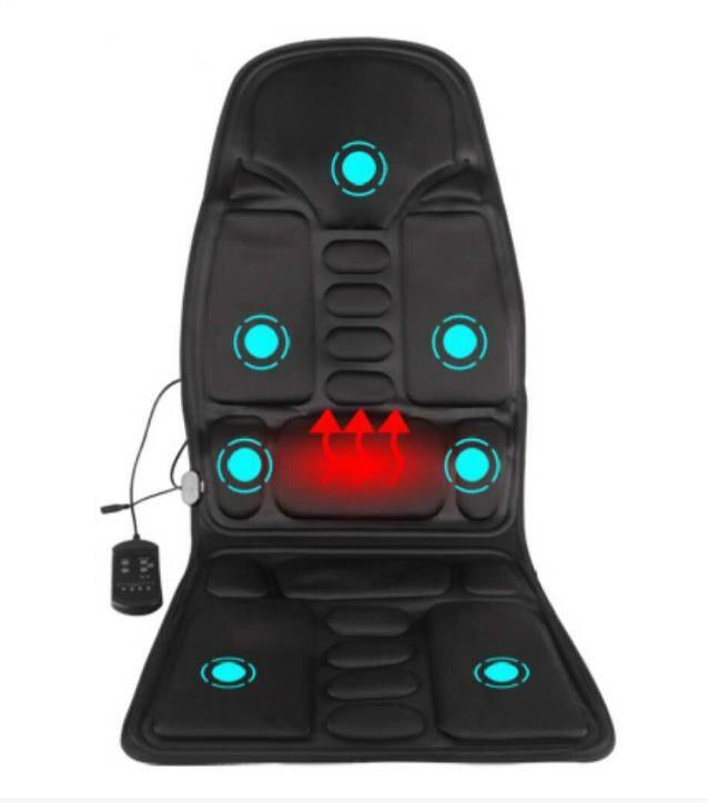 Car Massage Cushion Home Cervical Vertebra Kneading Massager Car Electric Massage Chair Waist Massager