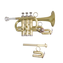 Bb/A Piccolo Trumpet Brush finishes Brass trumpets with mouthpiece case musical instruments trompete Stainless Steel pistons