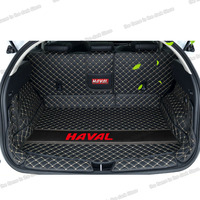 Lsrtw2017 leather Car Trunk Mats cargo liner for Great Wall Haval F7 2020 2017 2018 2019 F7X boot accessories auto mat